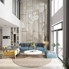 Home Interior Design For Living Room by 30 Double Height Living Rooms That Add An Air Of Luxury