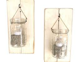 Jar Candle Wall Sconce Candle Holders Rustic Candle Holders Candles Mason Jar