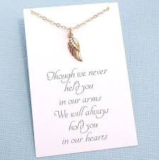 infant loss gifts bereavement gift miscarriage necklace angel wing necklace