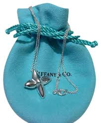sterling silver flower necklace images Tiffany co 925 sterling silver flower inch flower necklace jpg