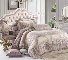 duvet cover set dust pink european victorian paisley pattern