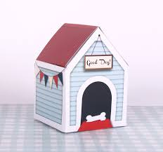 Homemade Toy Box by Puppy Party Favor Printable Dog House Gift Box Dog Birthday