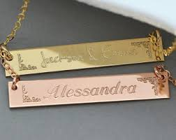 Name Plate Jewelry Name Plate Jewelry Etsy