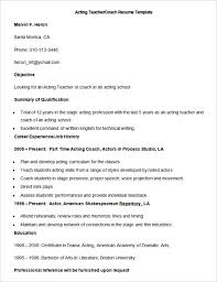 Soccer Coach Resume Template Volleyball Coach Resume Bullet Point Resume Tips Cover Letter