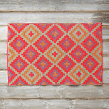 Outdoor Kilim Rug by Seeing Shades Of Coral The Beard Group