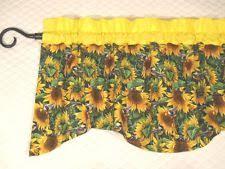 Sunflower Valance Curtains Handmade Floral Curtains Drapes Valances Ebay
