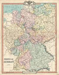 map of germany cities states of germany geographicus antique maps