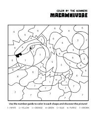 numbers coloring worksheet pages print printable color number