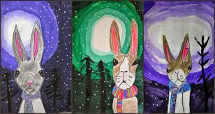 marymaking winter rabbits with tints and shades