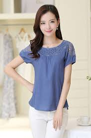 casual wear for women zumeet women summer casual wear lace blouse blue zumeet