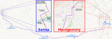 selma map selma to montgomery marches