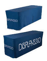 6ft Imprinted Table Cover Custom Branded Table Covers Fitted U0026 Loose Styles Logo Imprint