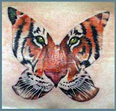 tiger butterfly design hybrid symbolism meaning