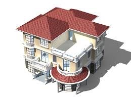 Home Design 3d Architect Three Floor Home Design 3d Model 3ds Max Files Free Download