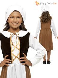 girls tudor maid servant poor child kids fancy dress