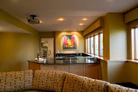 lower level basement entertainment room remodeling minneapolis