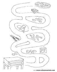 pizza maze coloring sheet create a printout or activity