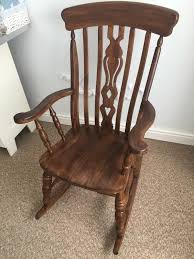 Rocking Chair Antique Styles Beautiful Chestnut Rocking Chair Antique Style In Longsight