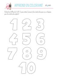 Coloriage des chiffres  Momesnet