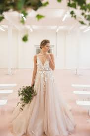 tulle wedding dress blush tulle wedding dress with floral applique some day