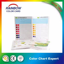 china customized design colour chart with paint color shade