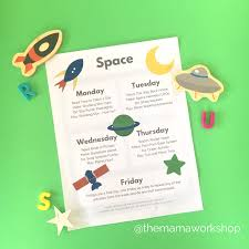 space week for preschoolers free printable the mama workshop