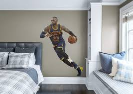 life size lebron james fathead wall decal shop cleveland lebron james fathead wall decal