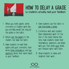 guidelines for writing a term paper delaying the grade how to get students to read feedback cult of i always offer students the opportunity to rewrite their essay above all else my goal is to help students become better writers