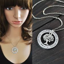 personalized family tree necklace custom name necklace personalized family tree pendent necklace