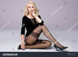 beautiful blonde long slim legs stock photo 514761562