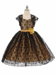 low black gold floral lace dress w matching bolero