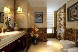 nice mediterranean bathroom with wall murals and topiries warm elegant bathroom wall murals image permalink