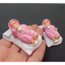 plastic babies for baby shower miniature plastic pink or blue baby booties baby shower party