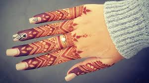 elegant finger henna tattoo design beautiful and simple mehndi