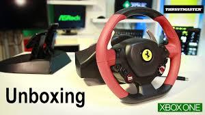 thrustmaster 458 xbox one unboxing volante thrustmaster 458 spider xbox one pt br