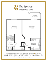 senior apartment floor plans the springs at veranda park