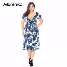 aliexpress com buy ailunsnika summer plus size dress women short
