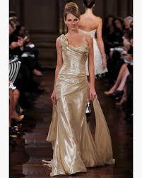 gold wedding dress gold wedding dresses fall 2012 bridal fashion week martha