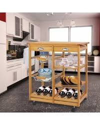 island trolley kitchen find the best deals on zeny wood rolling kitchen island trolley cart
