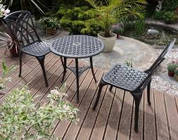 Aluminium Bistro Table And Chairs Belleu Cast Aluminium Bistro Set 259 99