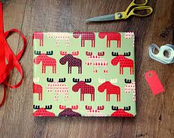 rustic christmas wrapping paper winter moose gift wrap rustic country christmas wrapping