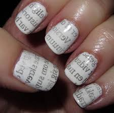 newspaper nail art without alcohol best nails art ideas