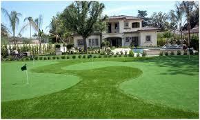 backyards mesmerizing backyard putting green cost modern