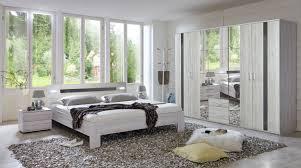 Schlafzimmer Komplett Led Schlafzimmer Komplett 4 Teilig Weißeiche Grau Hochglanz Neu