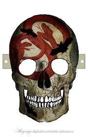 Skull Mask Halloween Diy Skull Mask