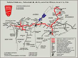 Maine Road Map Oil Electric Central Maine U0026 Quebec Railway