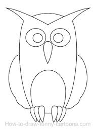 easy outlines of animals an owl cartoon