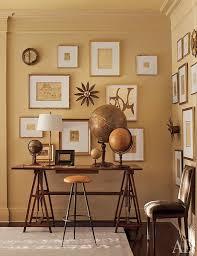 gray walls gold frames design ideas