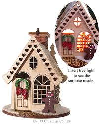 gingerbread cottage wooden 3d ornament