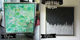 thrift store diy home decor make modern artwork from thrift store canvas art the diy mommy